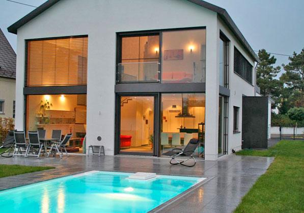 Einfamilienhaus neubau mit garage  hicker architekten | friedberg | bayern ::::::::::::